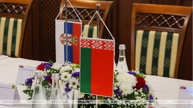 白俄羅斯工業部長會見塞爾維亞總統